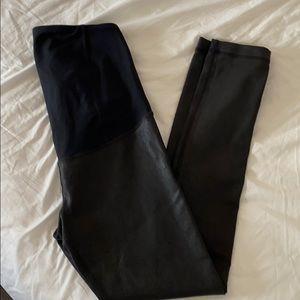 Maternity faux leather leggings